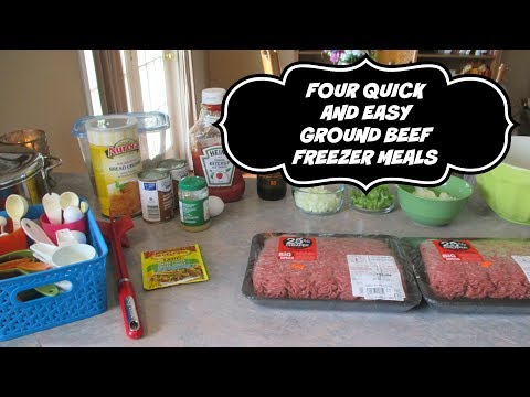 Four Quick & Easy Ground Beef Freezer Meals