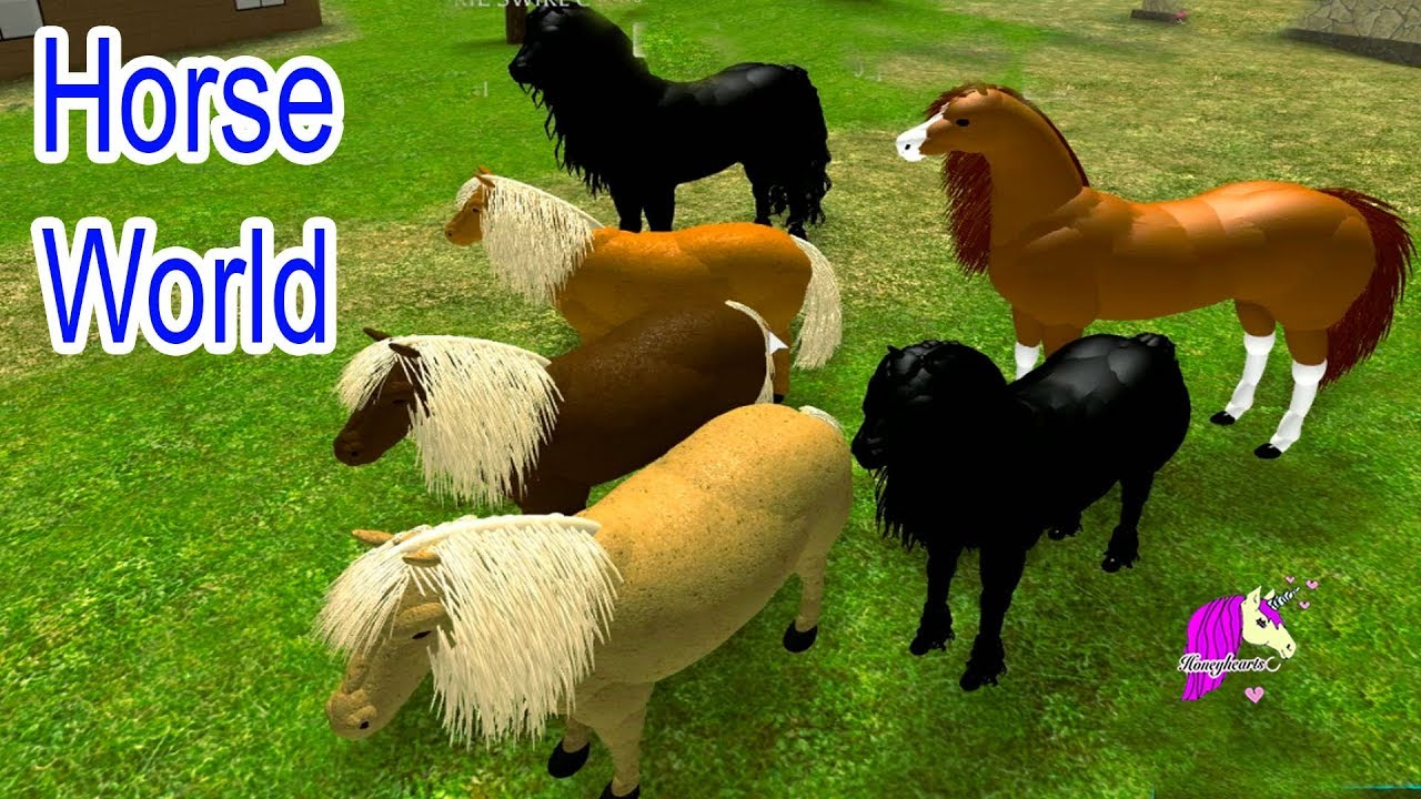 Horse World Lets Play Roblox Online Horses Game Play Video Youtube