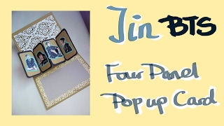 BTS Jin  - DIY Hand Craft / Hand Made 4 Panel Pop Up Card [R Luck]