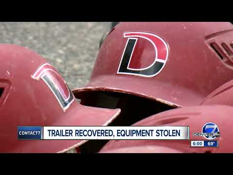DSST Stapleton High School baseball team trailer recovered and returned