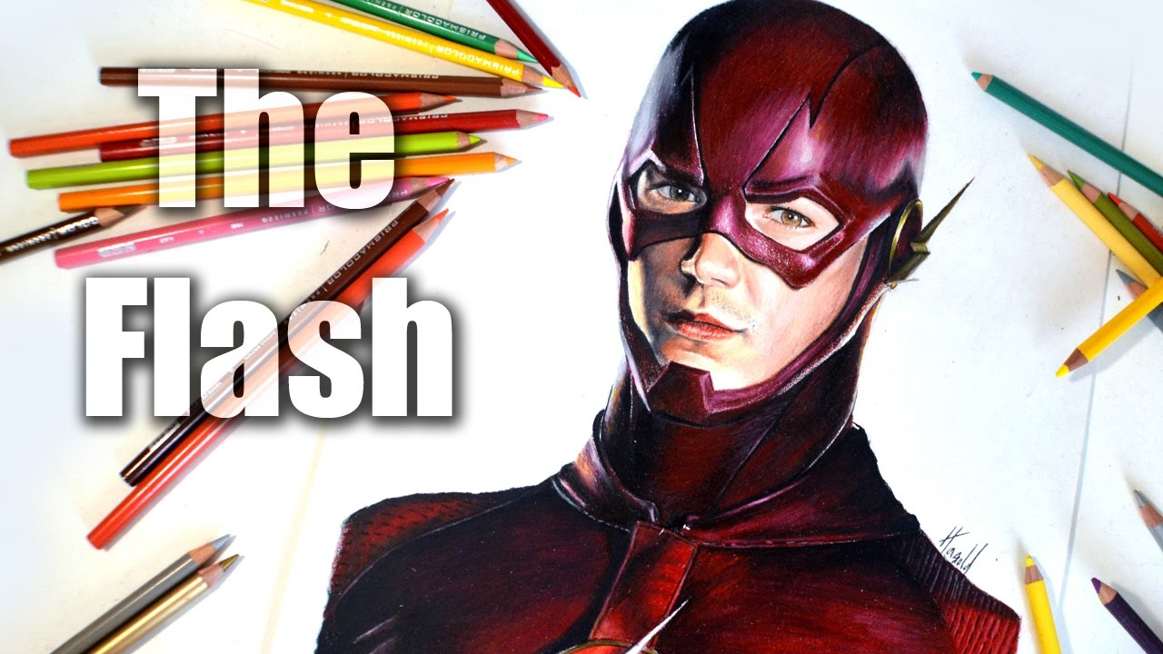 The Flash Dibujo De Grant Gustin Speed Drawing Youtube