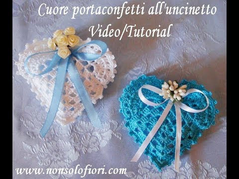 Cuore Portaconfetti Alluncinetto Crochet Heart Favor Bag Youtube