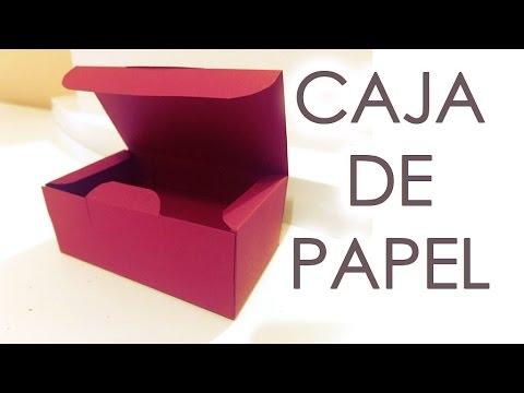 Tutorial como hacer una caja de papel con tapa youtube - Como hacer cajas de cartulina ...