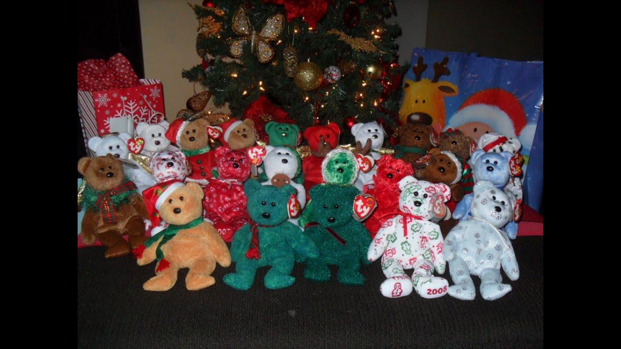 7168ac387fe Ty beanie Baby Bears CHRISTMAS! - YouTube