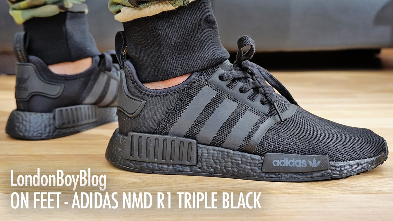 1fd959d00 Adidas NMD R1 PK Japan Triple Black Real Boost review from