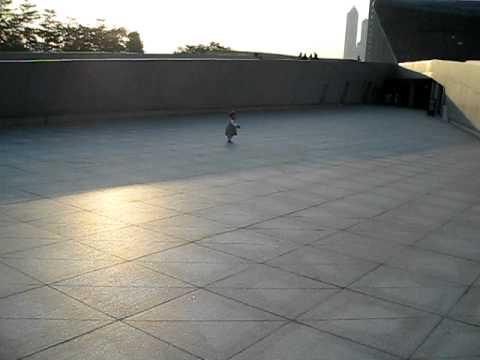 MVI 8765 Olivia dancing next to Opera house in HaiXinSha Asia Games Park 2