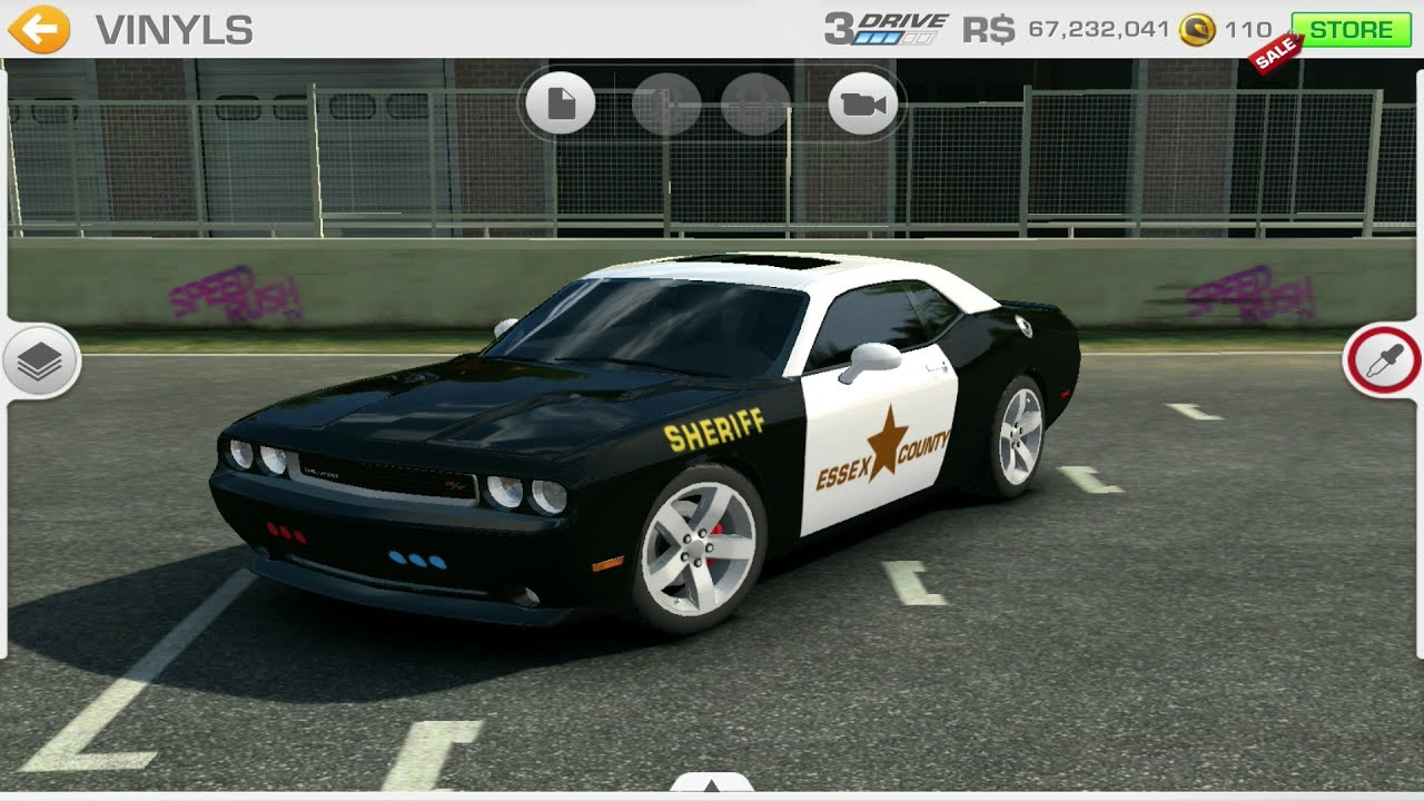 Real racing 3 tuning usa police sheriff car easy custom vinyls ideas