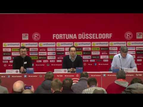 Pressekonferenz Fortuna Düsseldorf gegen 1. FCNürnberg I 11. Dez. 2017