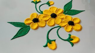 Beautiful and attractive flower rangoli design