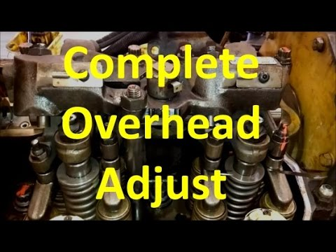 How To Perform A C15 Overhead Valve Adjust. CAT Complete Overhead And Valve Adjustment.