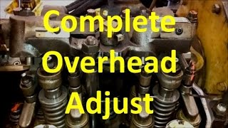 How To Perform A C15 Overhead Valve Adjust. CAT Complete Overhead And Valve Adjustment. thumbnail