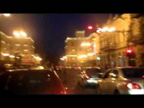 Agmashenebeli avenue, Tbilisi the Republic of Georgia, Marjanishvili Square at Night!