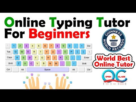 Online Typing Tutor for beginners | Typing Tutorial | Open Class