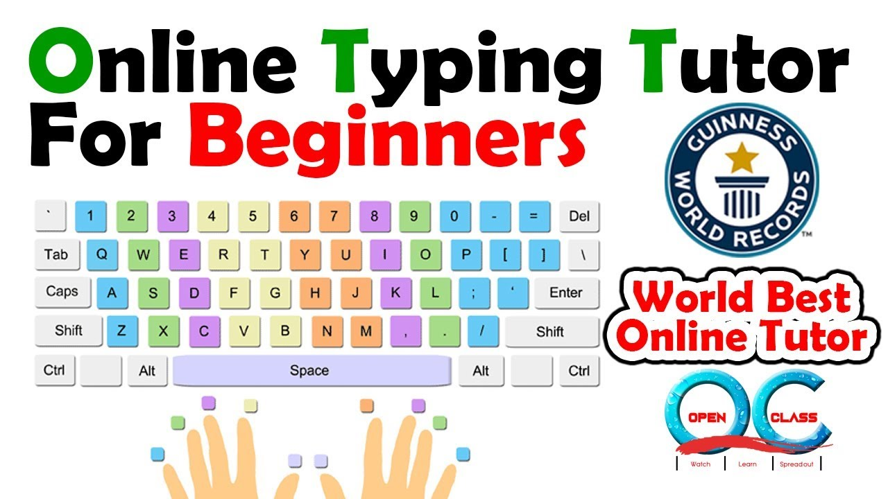 Online Typing Tutor for beginners | Typing Tutorial | Open Class ...