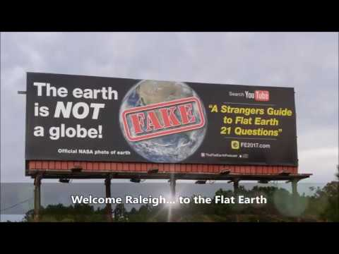 The Flat Earth Conference billboard - Raleigh North Carolina - DITRH Mirror ✅