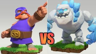 Clash of clans new troop El Primo vs Ice golem!! Who will win #clashofclans #TheSRGamingzone