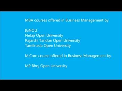 Business Management Courses Through Distance Education In India