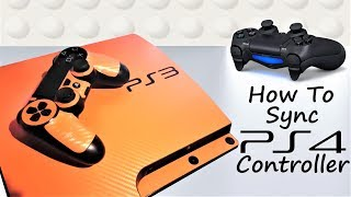 How to Use PS4 Controller on PS3  (WIRED AND WIRELESS)