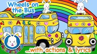 Wheels on the Bus Go Round & Round Song Lyrics | Long Version