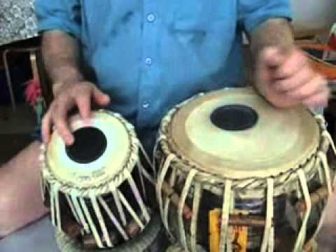 White India -Tabla Lesson 2 - How to play Vilambit Teental Slow Theka)
