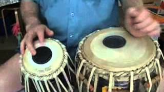 White India -Tabla Lesson 2 - How to play Vilambit Teental Slow Theka)