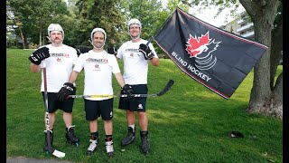 #COURAGE21: Raising funds to support Canadian Blind Hockey