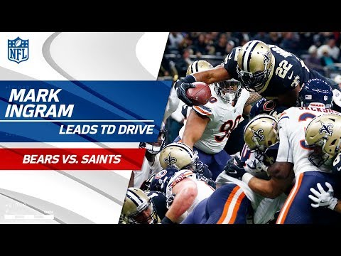 Mark Ingram Carries New Orleans Downfield on Big TD Drive! | Bears vs. Saints | NFL Wk 8 Highlights
