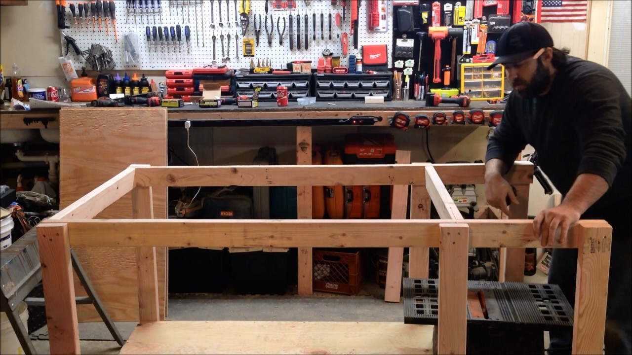 How To Build Your Own Mobile Workbench With Built In Table Saw And