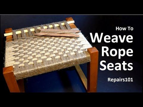 rope bottom chair classic covers bournemouth how to weave seats youtube