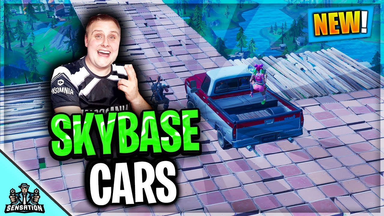 CARS FIRST EVER SKYBASE CHALLENGE IN FORTNITE