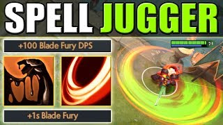 Full HP Drain Blade Fury Combo with Sticky Napalm [Spell Juggernaut] Dota 2 Ability Draft