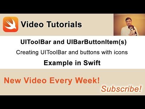 UIToolBar and UIBarButtonItem in Swift - Swift Developer Blog