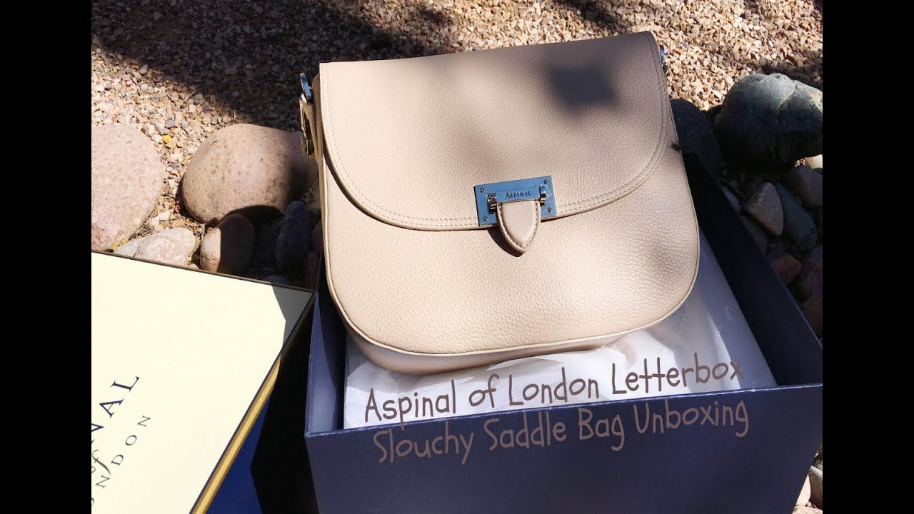 Aspinal Of London Letterbox Slouchy Saddle Bag Unboxing Adaleta Avdic You