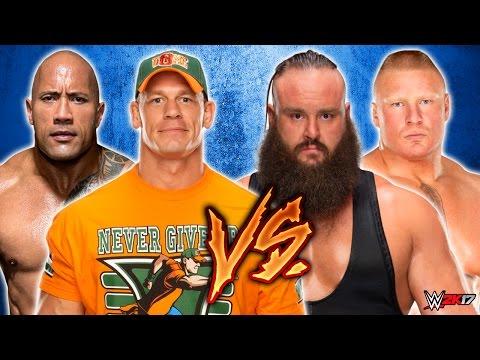 John Cena & The Rock vs. Braun Strowman &...