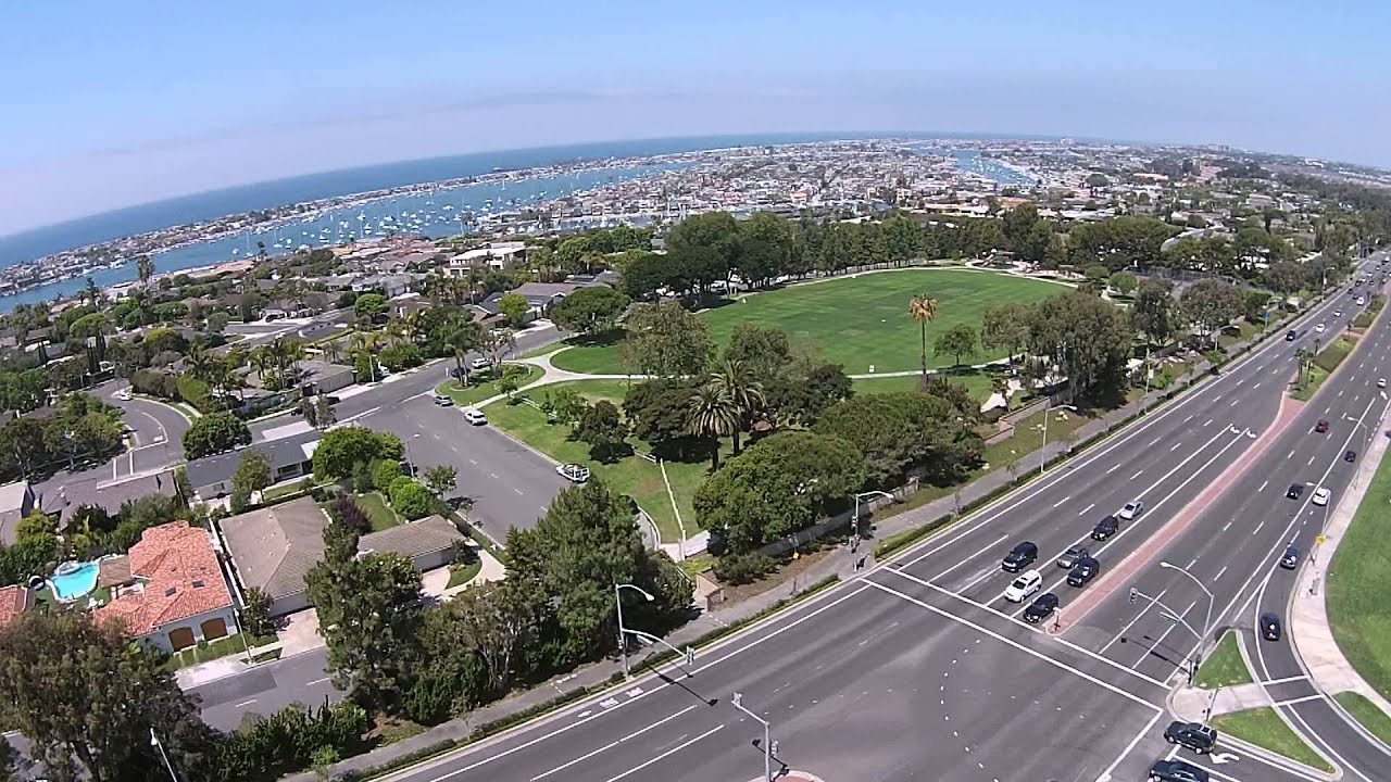 Fashion Island & PCH Scenic Aerial View - Corona del Mar - DJI Phantom 2  Vision+ R/C Drone