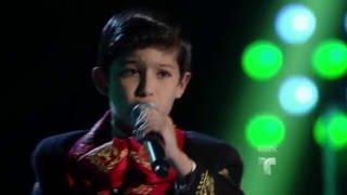 Brian interpreta con fuerza Cocula Audiciones La Voz Kids 2016