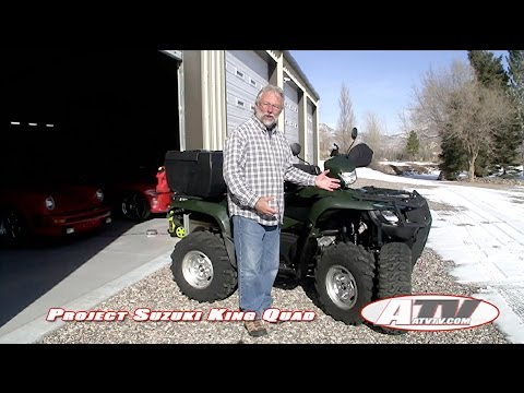 ATV Television Project  Suzuki King Ultimate Project  tires, box, winch, shocks, and more