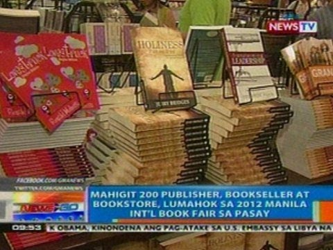 NTG: Mahigit 200 publisher, bookseller at bookstore, lumahok sa 2012 Manila Int'l Book Fair sa Pasay