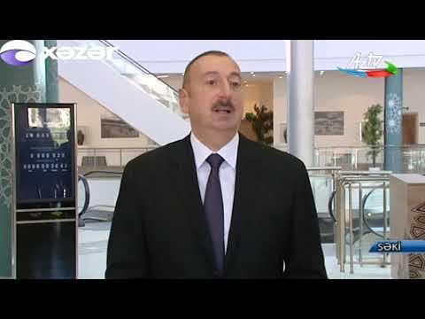 Prezident İlham Əliyev Şəkiyə səfər edib
