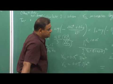 Solved Problem on Nucleation rate and How to determine the value of....(CH_18)