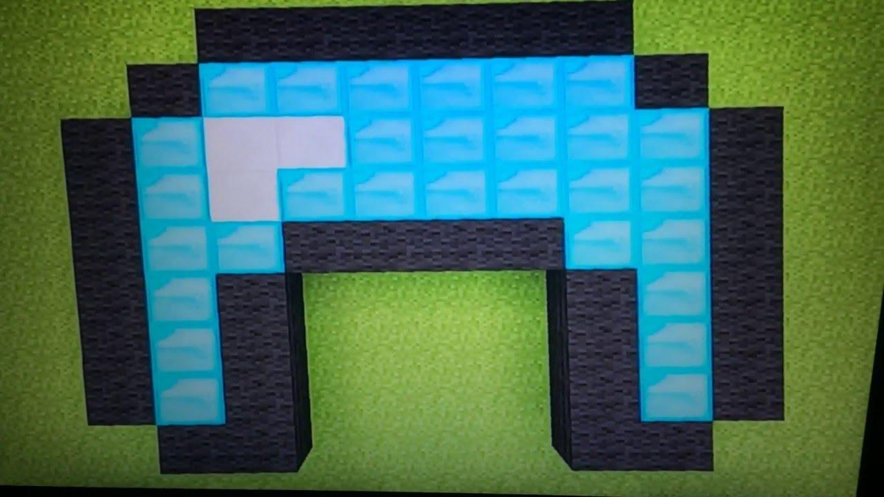 Minecraft Diamond Helmet Pixel Art - YouTube