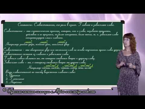 Синтаксис. Словосочетание, его роль в языке. Главное и зависимое слово