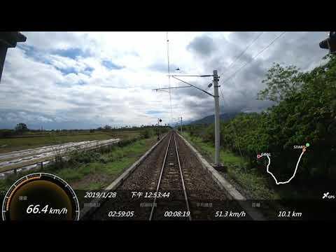 2019.1台鐵 308次柴聯自強號 台東-新左營SONY FDR-X3000 Action Cam GPS 參數資料 路程景
