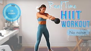 Follow Along FULL BODY CIRCUIT   Real Time Workout (no Noise!)