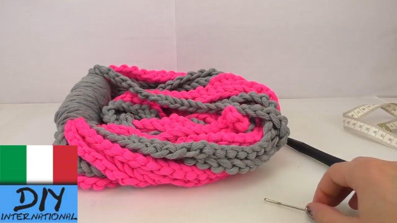 design senza tempo vendita a buon mercato usa buona qualità Sciarpa ad anello doppio Crochet - Tutorial per una sciarpa ad anello  doppio con catenelle