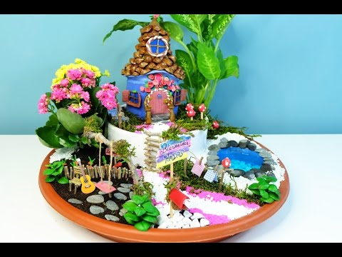 How to make a Fairies Garden cute miniature - DIY fairy house with coke bottle - Isa ❤️