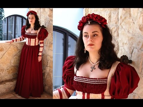 Making The Renaissance Scarlet Dress - Entire Process