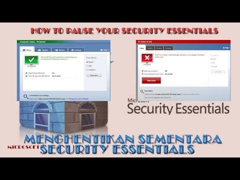 Cara Mematikan Sementar Antivirus MSE - Microsoft Security Essential