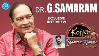 Dr G Samaram Exclusive Interview || Koffee With Yamuna Kishore #18 || #407