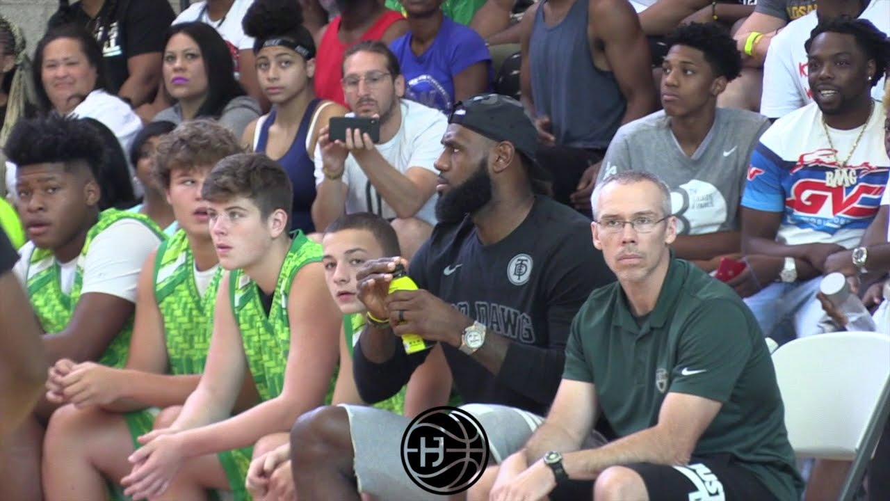 b9b677851c60 Кадр из видео Bronny Jr Goes Steph Curry Mode W  Quavo   Lebron James  Watching